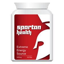 SPARTAN HEALTH ENERGY SOURCE PILLS TABLETS SPORTS MAXIMUM HIGH ENERGY LEVELS