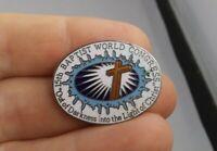 Vintage Baptist World Congress Religious pin pinback button souvenir *FF 1
