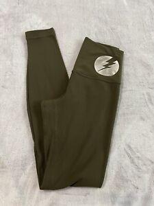 """Lululemon Align Pant *Full Length 28"""" Dark Olive Size 4 *Lightning Bolt Graphic*"""