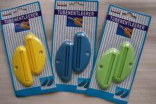 Tubenentleerer, Tubenquetscher,  für Kunststoff - Tuben, 3 Farben, je 2 Stück
