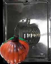 "3D Pumpkin Thanksgiving Chocolate Candy Plastic Mold LOP H-89B & 89A, 4.5""x4.5"""