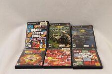 PS2 Video Game Lot of 6 DRAGON BALL Z BUDOKAI GRAND THEFT AUTO VC + SOCOM 3