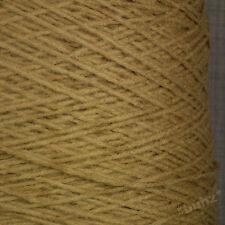 Morbido misto lana 4 Ply Filato 500g CONO 10 Palle Camel Marrone Mano macchina per maglieria