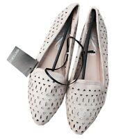 elegant Damen Ballerinas spitze Form mit Cut outs faux Wildleder ballet flats
