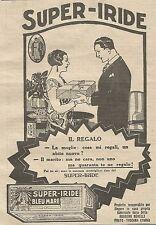 W1115 SUPER-IRIDE - Tinta per tessuti - Pubblicità 1926 - Vintage Advert