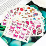 30pcs Butterfly Nail Stickers Water Transfer Decals Manicure Nail Art Decor NEW