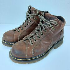 DR DOC MARTENS sz 8 Air Wair 8A54 5 Hole Brown Leather Ankle Boots