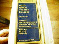 Cat Caterpillar 637G Tractor Scraper Service Manual Vol 2 Ceh Cej Cem