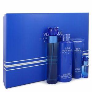 Perry Ellis 360 Very Blue by Perry Ellis Gift Set 3.4 oz EDT + .25 oz Mini ED...