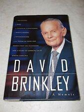 David Brinkley A Memoir Autograph Book
