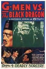 G-MEN VS THE BLACK DRAGON Movie POSTER 27x40 D Rod Cameron Roland Got Constance
