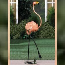 "Standing 47.5"" Tall Flamingo Sculpture Statue Garden Decor"