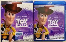 DISNEY PIXAR TOY STORY BLU RAY DVD 2 DISC SET + SLIPCOVER SLEEVE FREE SHIPPING