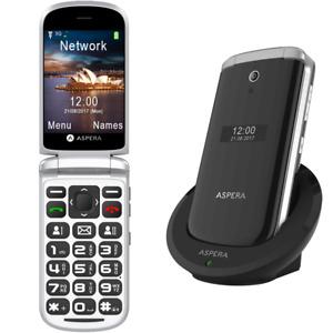 Aspera F28 - 3G Seniors Phone - Big Button - Black - UNLOCKED - OZ STOCK