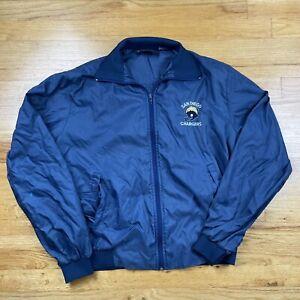 Vintage San Diego Chargers Silverfox Jacket Medium Full Zipper