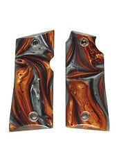 Copper & Silver Pearl Colt Mustang Pocketlite Grips