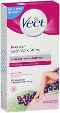 Veet Wax Strips for Normal Skin, Pack of 40 - NEW - Easy - Gelwax Technology