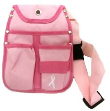 Pink Ribbon Belly Bag Breast Cancer Awareness Travel Plastic Fastener Waist