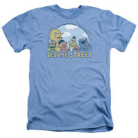 Sesame Street SESAME GROUP Licensed Adult Heather T-Shirt All Sizes