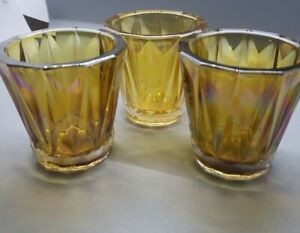 3 Better Homes Iridescent Votive Candle Holders