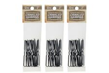 """Amish Made Crinkled  Heavy Duty  2""""  Stainless Steel Hairpins  3 PACKS"""