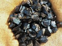 3000 Carat Lots of Black Obsidian Rough - Plus a Very Nice FREE Faceted Gemstone
