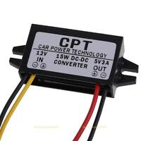DC / DC Converter 12V zu 5V 3A 15W Power Adapter Auto LED Spannungswandler