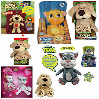 Official Talking Tom Ben Ginger Angela Plush Talkback And Animated Soft Toy New