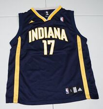 Adidas Boys Youth L 14-16 Autographed Mike Dunleavy #17 Indiana Pacers Jersey