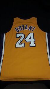 Kobe Bryant Panini Authentic Autograph Jersey Mitchell And Ness Lakers Gold #24