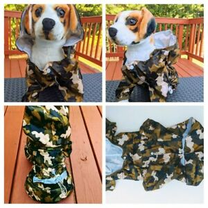 Windbreaker Raincoat with reflector dog pet various sizes and colors you choose