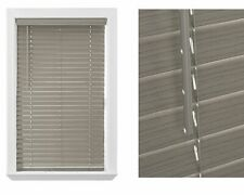 "Rustic Blinds 2"" Cordless Faux Gray Wood Privacy Window Coverings Room Darkening"
