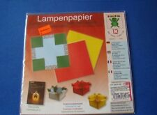 Lampenpapier, falten Boxen Mix 20 x 20 cm Origami 12 Blatt 120 g/m²