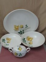 Canonsburg Pottery Skyline Temptation YELLOW ROSE Lot of 5