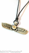 Egyptian Winged Sun Solar Sun Disc Protection Pendant Necklace Egypt     bin20d2