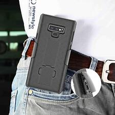 For Samsung Galaxy Note 9 Hybrid Holster Case Cover Belt Clip Armor Stand Black