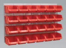 Sealey Bin & Panel Combination 24 Bins Red TPS130