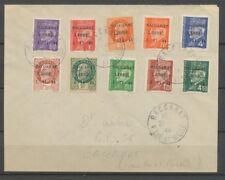 1944 Env. Libération de Baccarat 10 timbres N°1 à 10. Superbe Signé Calves X2517