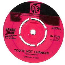 "Sandie Shaw - You've Not Changed - 7"" Record Single"