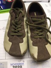 Diesel Evelyn Women's Size 12.5 Y Tan Leather & Suede Shoes Sneakers