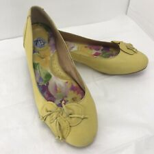 Born Ballet Flat Shoes Sz 7.5 M Leather Slip Yellow Easter Color  forsythia