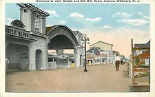 Entrance to Jack Rabbit, Old Mill & Rifle Range, Cedar Avenue, Wildwood NJ 1925