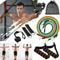 11Pcs Men Women Fitness Resistance Bands Yoga Workout Exercise Crossfit Tube UK