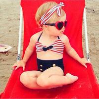 UK Infant Kids Baby Girls Swimsuit Swimwear Beachwear Bathing Bikini Outfits Set