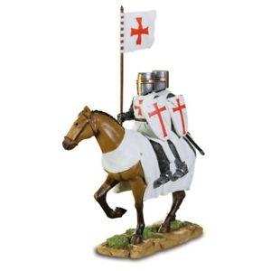 Kreuzritter 2 Ritter auf Pferd Templer