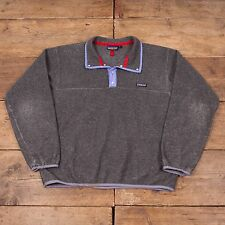 "Mens Vintage Patagonia Snap T Fleece Jacket Grey L 44"" R4918"