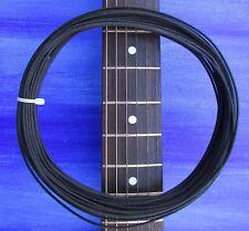 GAVITT 50 Feet Vintage Style tinned Cloth Push Back Guitar Wire 22 awg - BLACK