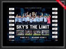 SYDNEY FC 2017 A LEAGUE CHAMPIONS TEAM HAND SIGNED LIMITED FRAMED PRINT VUKOVIC