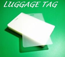 500 LUGGAGE TAGS Laminating Pouches Sheets W/Slot 2-1/2 x 4-1/4 10 Mil Quality