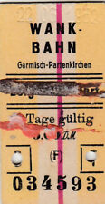 OLD TICKET Wank Underground Garmisch - PARTENKIRCHEN from 1952 (G4308)